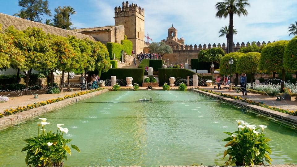 Alcazar of the Christian kings of Córdoba-Spain