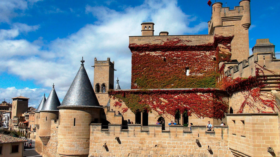 A medieval palace in Olite-Spain