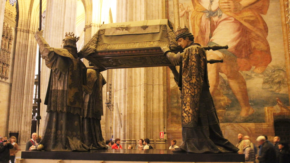 The tomb of Christopher Columbus. Seville Cathedral-Spain