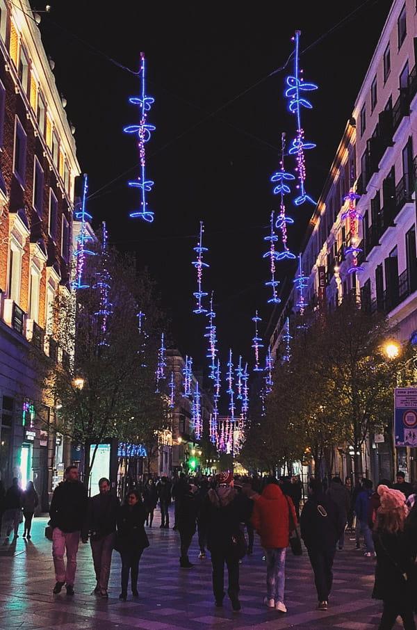 Christmas lighting-Madrid Spain