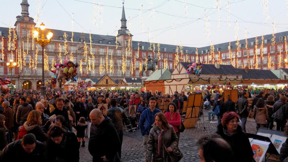 Plaza Mayor christmas Madrid-Spain