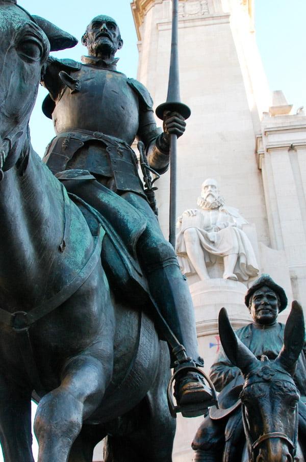 Monument to Don Quixote - Plaza España-Madrid
