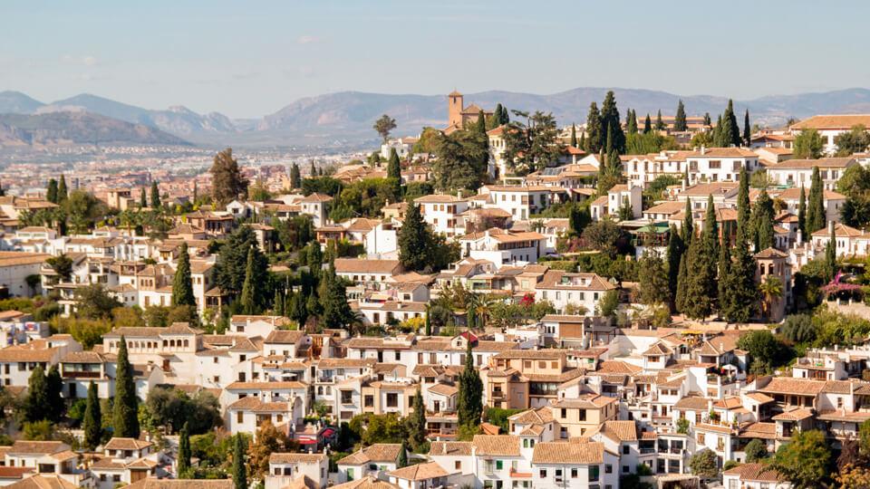 The adjacent old Arabic neighborhood, the Albaycin. Granada