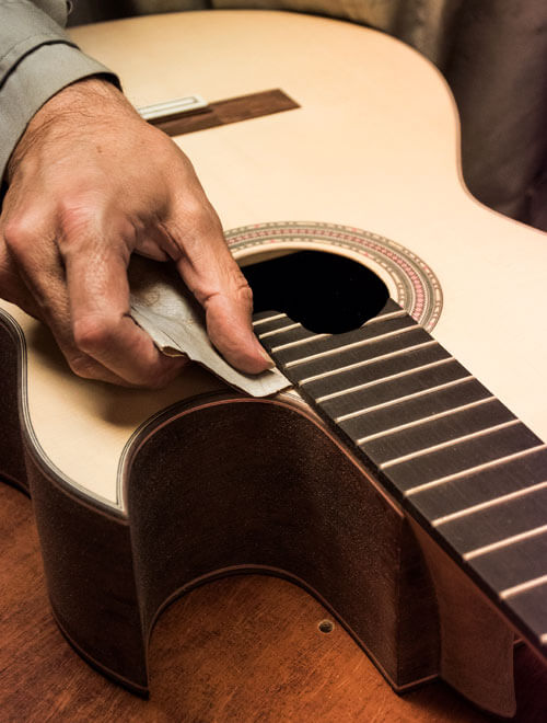 Spanish guitar luthier