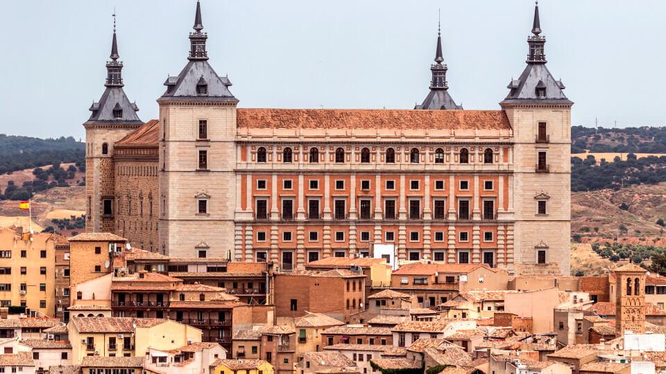 The castle route: The Alcázar in Toledo