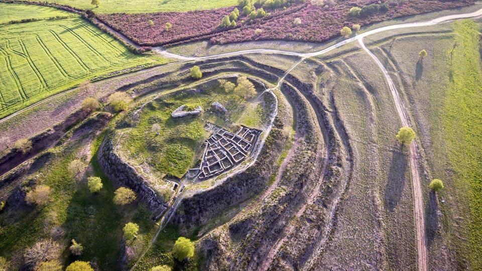 Celtic ruins Castromaior Portomarin