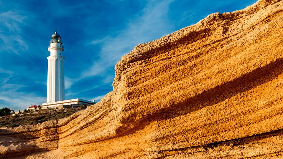 Trafalgar lighthouse in Barbate, Cádiz. Spain