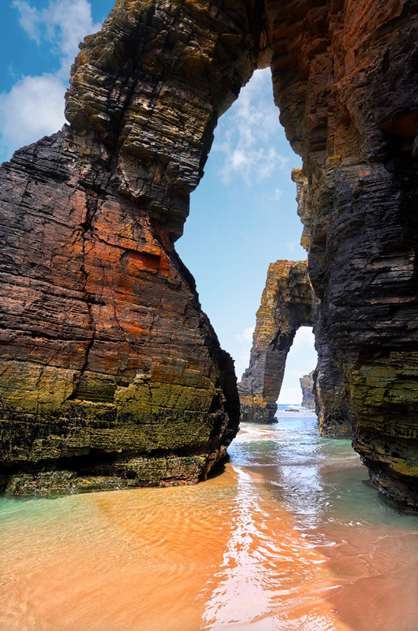 Las Catedrales beach, Galicia. Spain