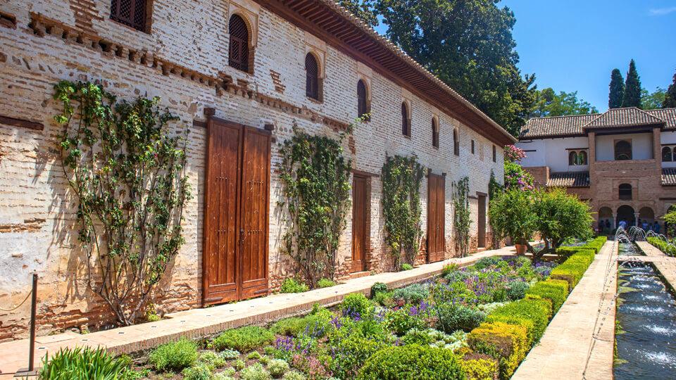 The Generalife Gardens within the Alhambra. Granada