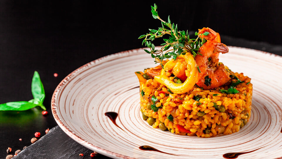 Paella, typical dish of Spain
