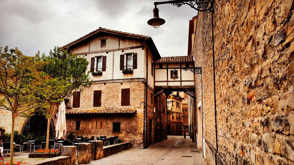 Medieval streets of Pamplona, Spain