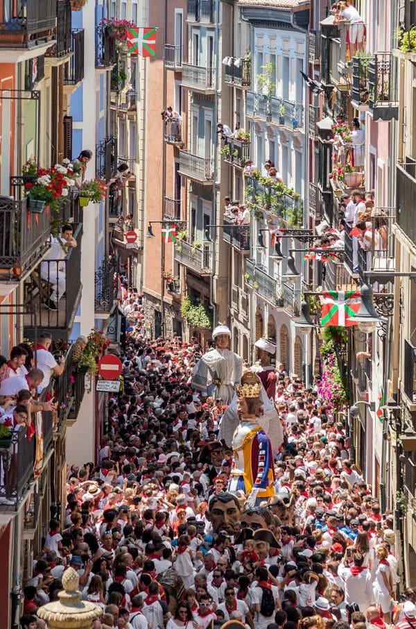 The Estafeta street, Pamplona. Spain