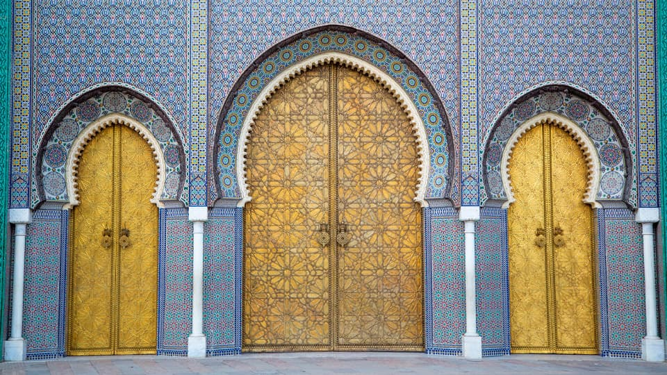 Royal palace in Fez - Morocco
