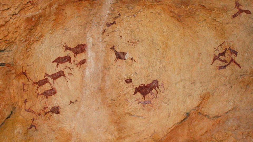 Prehistoric cave art. Spain