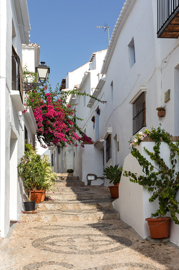 The whitewashed villages in the Axarquia