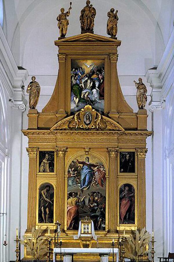 Altarpiece of the main altar of Santo Domingo el Antiguo. Toledo