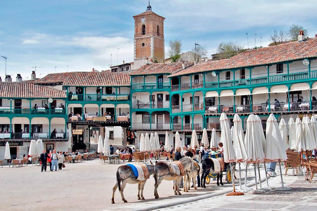 Mayor Square in Chinchon, Madrid