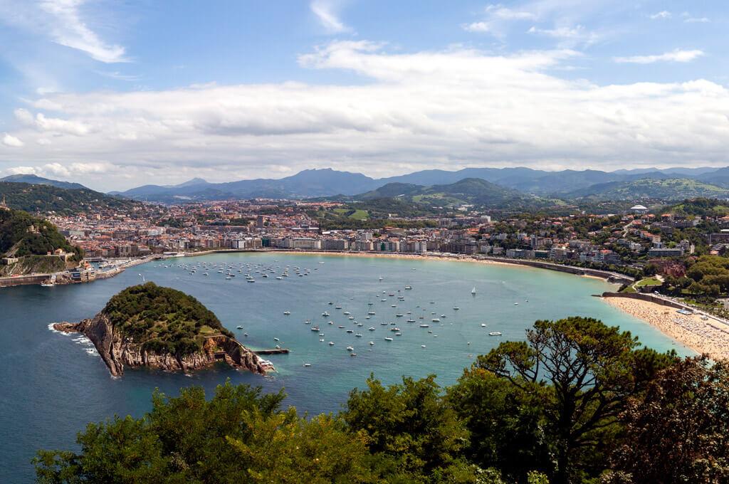 La Concha Bay in San Sebastian, Spain